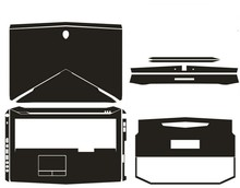 Special Carbon fiber Vinyl Skin Stickers Cover guard For Alienware 17 M17X R5 ANW17 17.3 2014 release