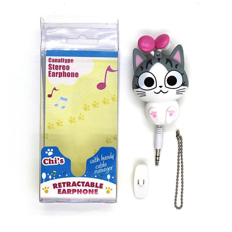 Cute retractable earbuds girls - cat headphones for girls