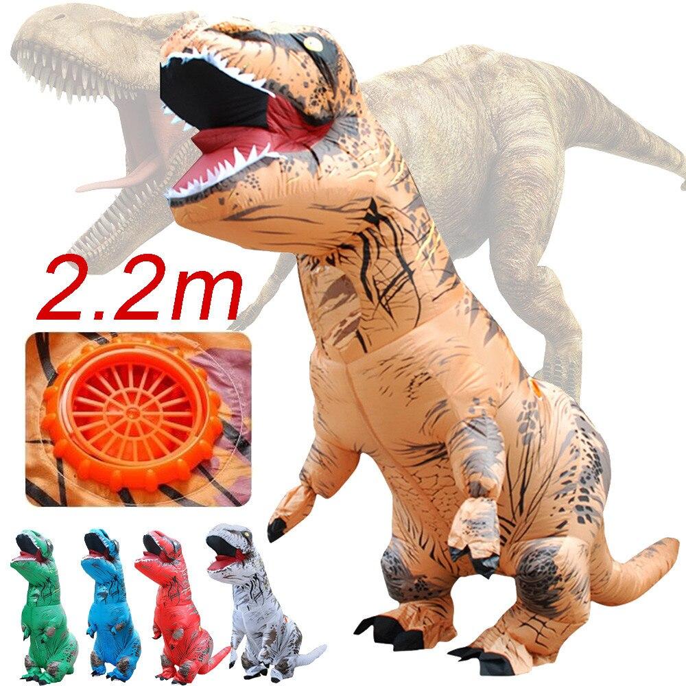 Inflable T-Rex dinosaurio  traje de fiesta juguetes al aire libre juego educativos niños 7
