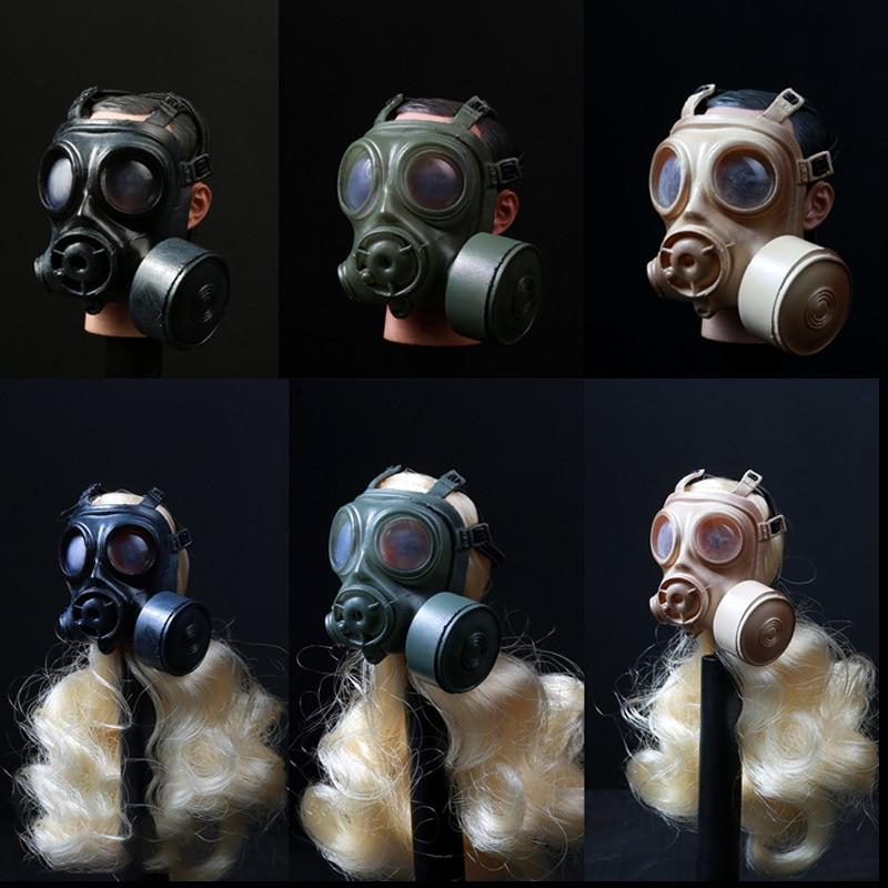 1//6 Black Color Pig Nose Type Gas Mask Model for 12/'/' Action Figures Toy