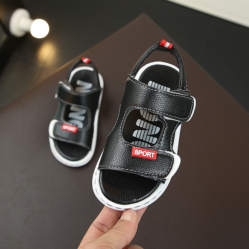 2019 New Boys Sandals Baby Children Summer Beach Shoes For Kids Sports Soft Anti-slip Casual Toddler Leather Flat Sandals 21-30