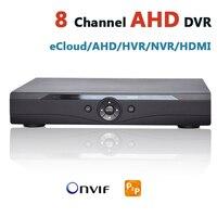 CCTV AHD DVR 8 Channel Security DVR Recorder HDMI HD AHD 720P Resolution 960H IP Hybrid