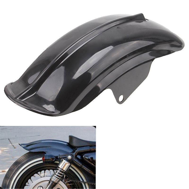 Motorcycle Black Rear Mudguard Fender For Harley Sportster Chopper 94 03 Bobber