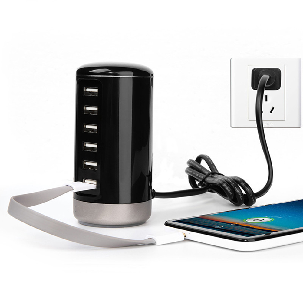 Universal Smart Charging Dock Station Fast Quick Charge Adapter 30W 6Port USB Travel Wall Charger for Smartphone Tablet PC Pad mzxtby quick charge 3 0 fast phone charger usb adapter usb charger for xiaomi universal 30w fast charger for iphone for huawei