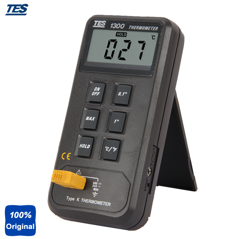 TES1300 Single Input Digital Thermocouple Thermometer -50 to 1300C -50 to 1999F digital dual input k type thermocouple thermometer industrial thermometer temperature reader sensor 50 to 1300 tes 1303