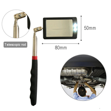 Espejo de detección de inspección telescópica LED inferior de vehículo de Accesorios de reparación de coche amplificación con una herramienta ligera para la reparación del coche