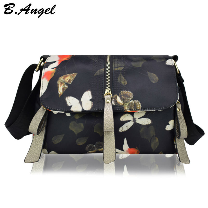 High-quality-chinese-landscape-painting-oxford-women-messenger-bag-peacock-pattern-women-bag-balloon-pattern-girls