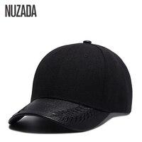 Brand NUZADA High Quality PU Leather Couple Women Baseball Caps Men Hip Hop Cap Bone Snapback
