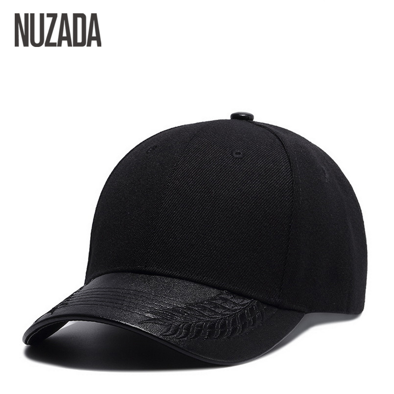 Brand NUZADA High Quality PU Leather Couple Women Baseball Caps Men Hip Hop Cap Bone Snapback Simple Strong Durable Hats brand nuzada snapback summer baseball caps for men women fashion personality polyester cotton printing pattern cap hip hop hats