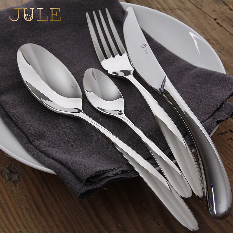 食器セット 24 個の高級鋼カトラリーセットヴィンテージ品質食器ナイフフォークダイニングレストランのディナーセット  グループ上の ホーム&ガーデン からの 食器セット の中 1