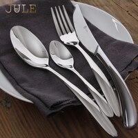 Bộ đồ ăn Đặt 24 Cái Sang Trọng Steel Cutlery Set Cổ Điển Chất Lượng Bộ Đồ Ăn Dao Ngã Ba Ăn Bộ Bữa Ăn Tối cho Nhà Hàng