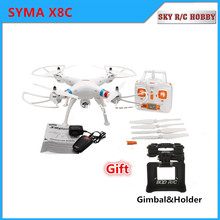 SYMA X8C 2.4G 4CH 6-Axis RC Quadcopter Drone Helicopter 2 MP HD Camera With Gift Can Hold Gopro Camera Same As X8W X8G