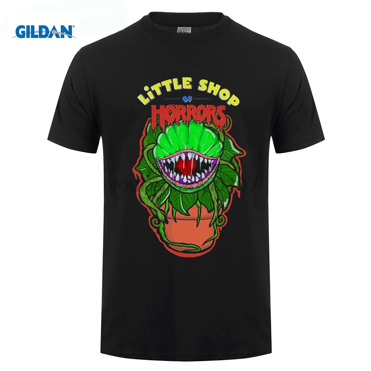 GILDAN LITTLE SHOP OF HORRORS T SHIRT TOP CULT FILM MOVIE 1980S FAN HORROR SCI FI Hot Sale Super Fashion O-Neck T-Shirt