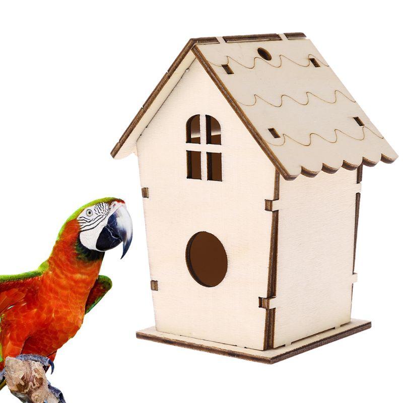 Natural Wooden Bird House Nest Creative Wall-mounted Home Garden Outdoor Bird Cage Box Birds Supplies