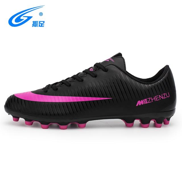 Zhenzu Novo Menino Crianças Homens Chuteiras de futebol Shoes Turf Futebol  Botas Sapatos de Futebol Quadra 9e7f3331069c1