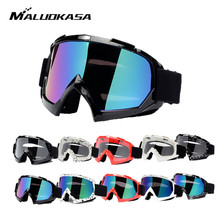 hot deal buy maluokasa motorcycle protective gears flexible cross helmet face mask motocross goggles atv dirt bike utv eyewear gear glasses