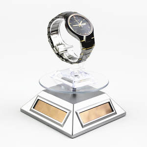 Stand-Tray Watch-Glasses Jewelry-Stand Rotating-Display Battery-Powered Promotion-Table