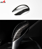 Real Carbon Fiber Console Gear Shift Knob Sequins For Alfa Romeo Giulia 2016 2017 2018 Knob protector