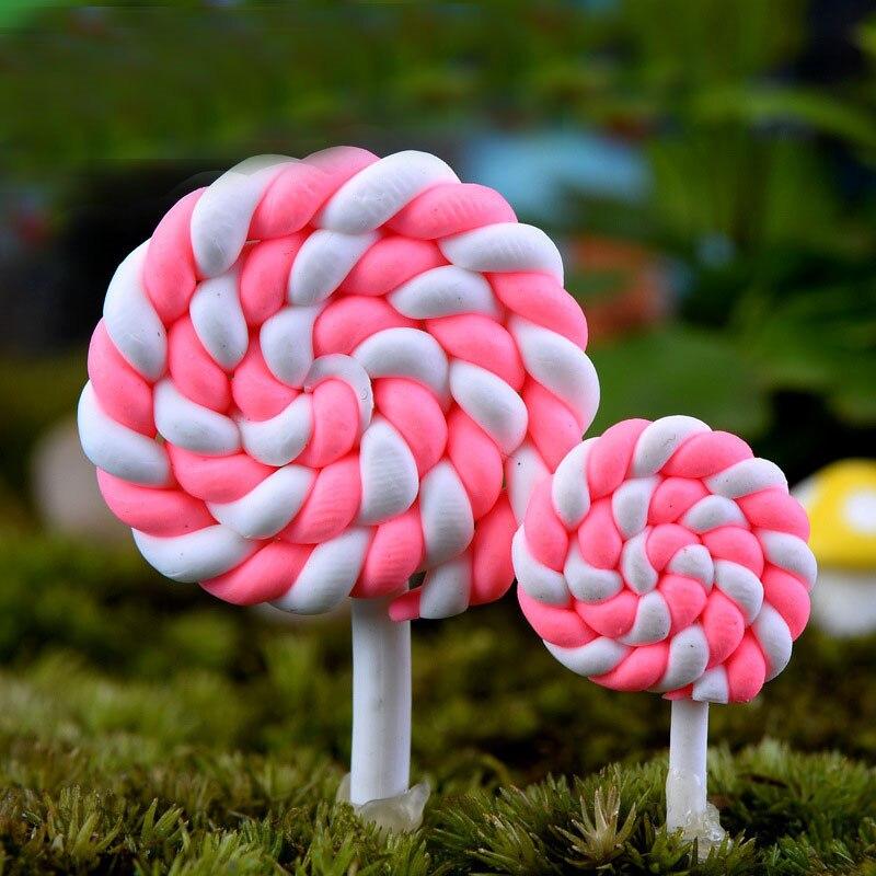 Lollipop Resin 2 pcs Miniature Garden Yard Lawn Ornament Decoration Figurine DIY