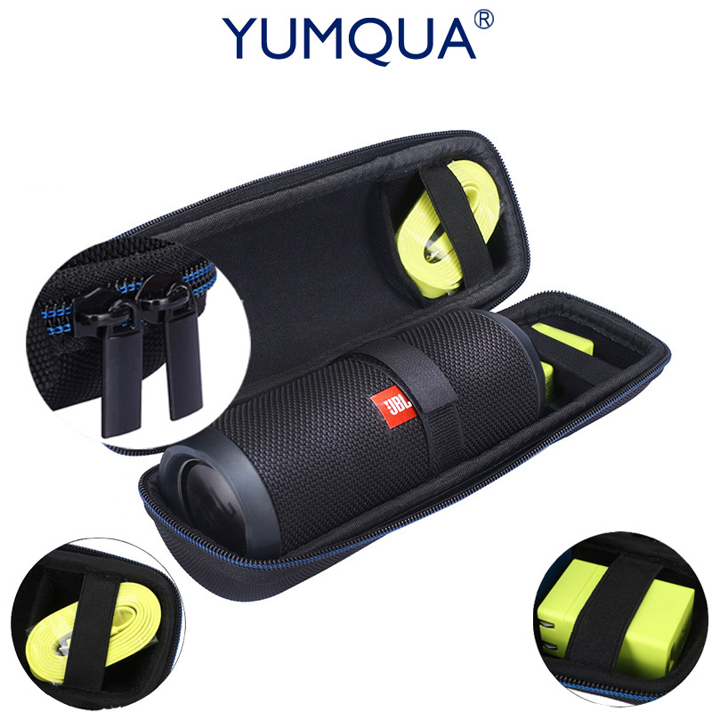 YUMQUA Case Brand Portable Carrying Box For JBL Flip <font><b>3</b></font> Flip3 Travel EVA Hard Storage Bag for jbl 2/<font><b>3</b></font>/<font><b>4</b></font> Fits USB Cable & Chargers