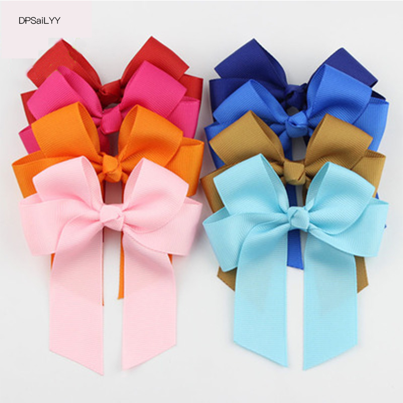 DPSaiLYY 2 PC New Arrivals Grosgrain Ribbon Pinwheel Boutique Hair Bows Clips For Girls Colors Hairpins for Teens Toddlers Kids boutique hairbow girls grosgrain ribbon cute rabbit ears hair clips bowknot crystal hairpins fashion hair accessories for female