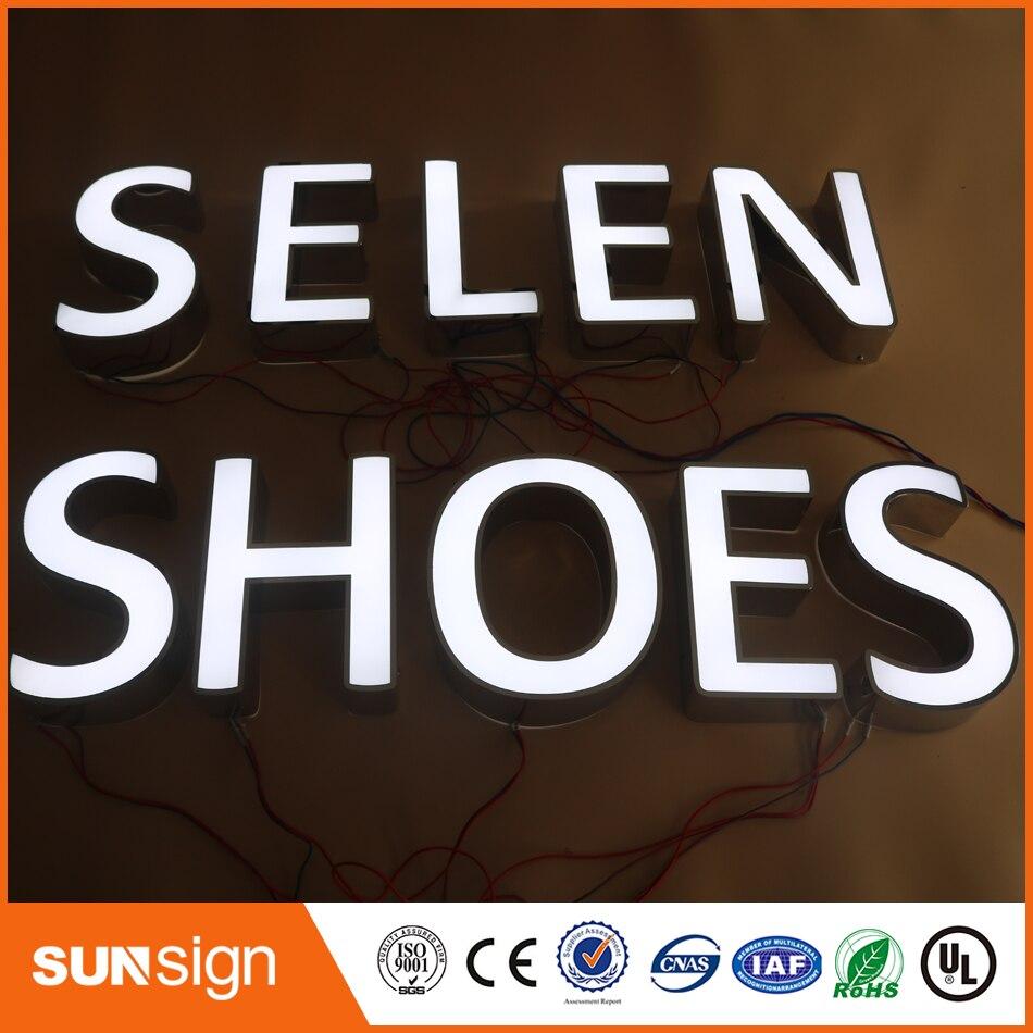 Custom Outdoor Advertising Back Lit 3D LED Letter Sign Logo