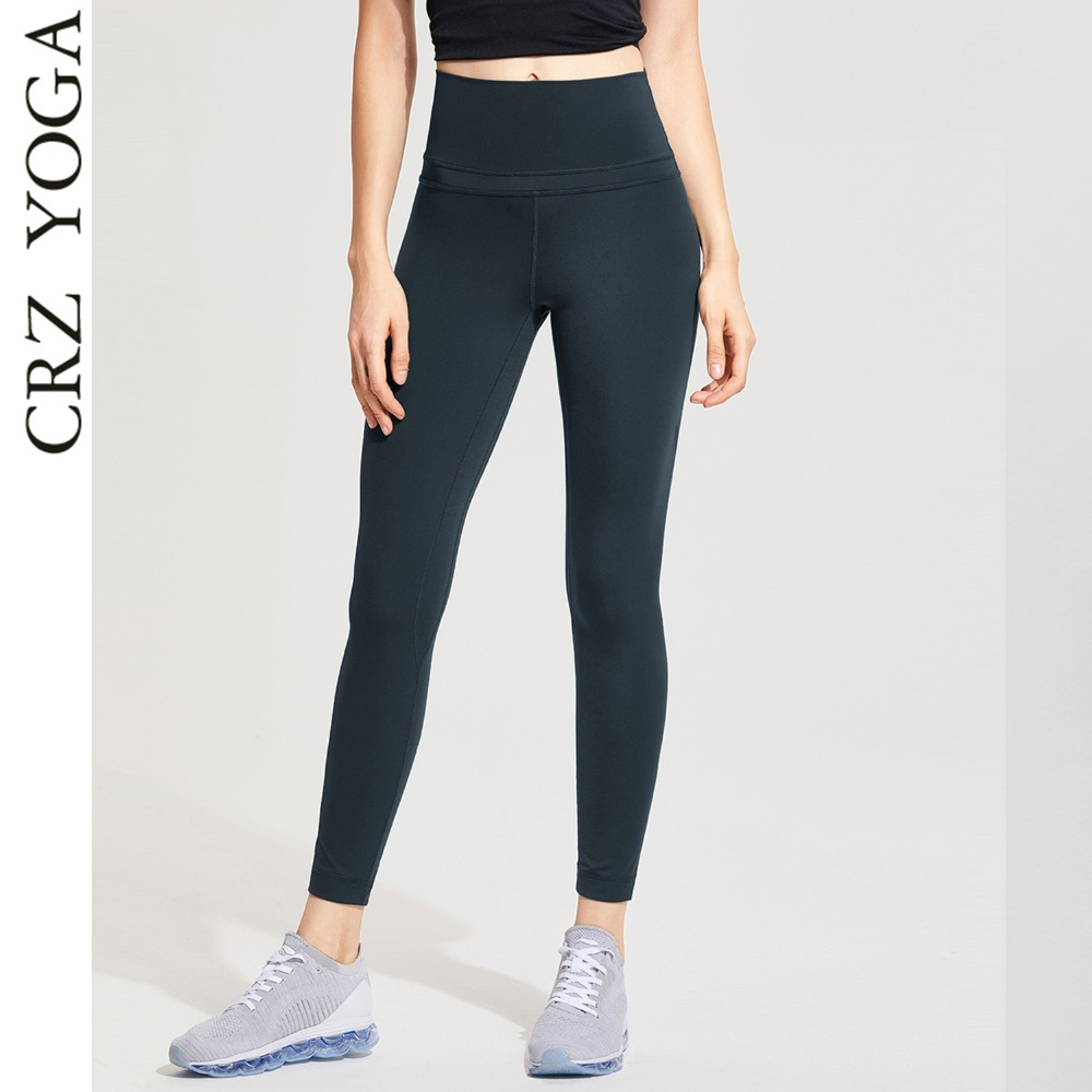 CRZ YOGA Women's High Waist Lightweight Workout leggings With Pocket crz