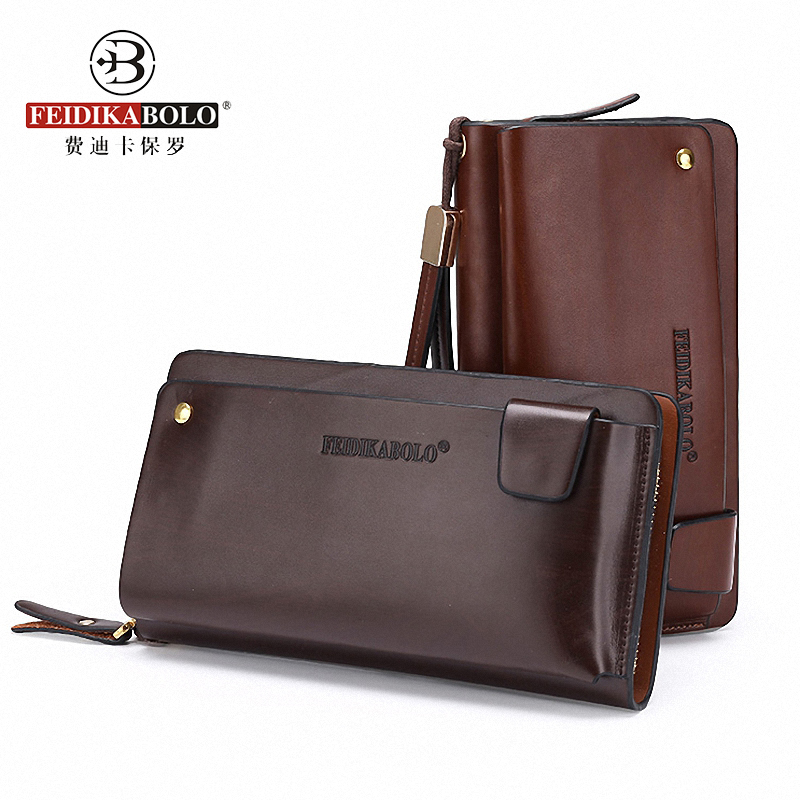 FEIDIKABLO Brand Men Wallets Long Clutch Bags PU Leather Purse Portafogli Portemonne Homme Portemonaie Carteira Masculina