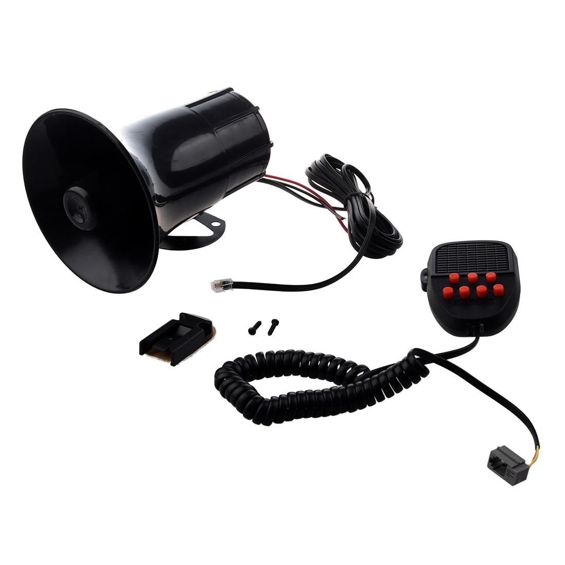 7 Sounds Tone Cars Motorcycles Trucks 12V 50W 150dB Horn Speaker Electronic Loud black speaker siren