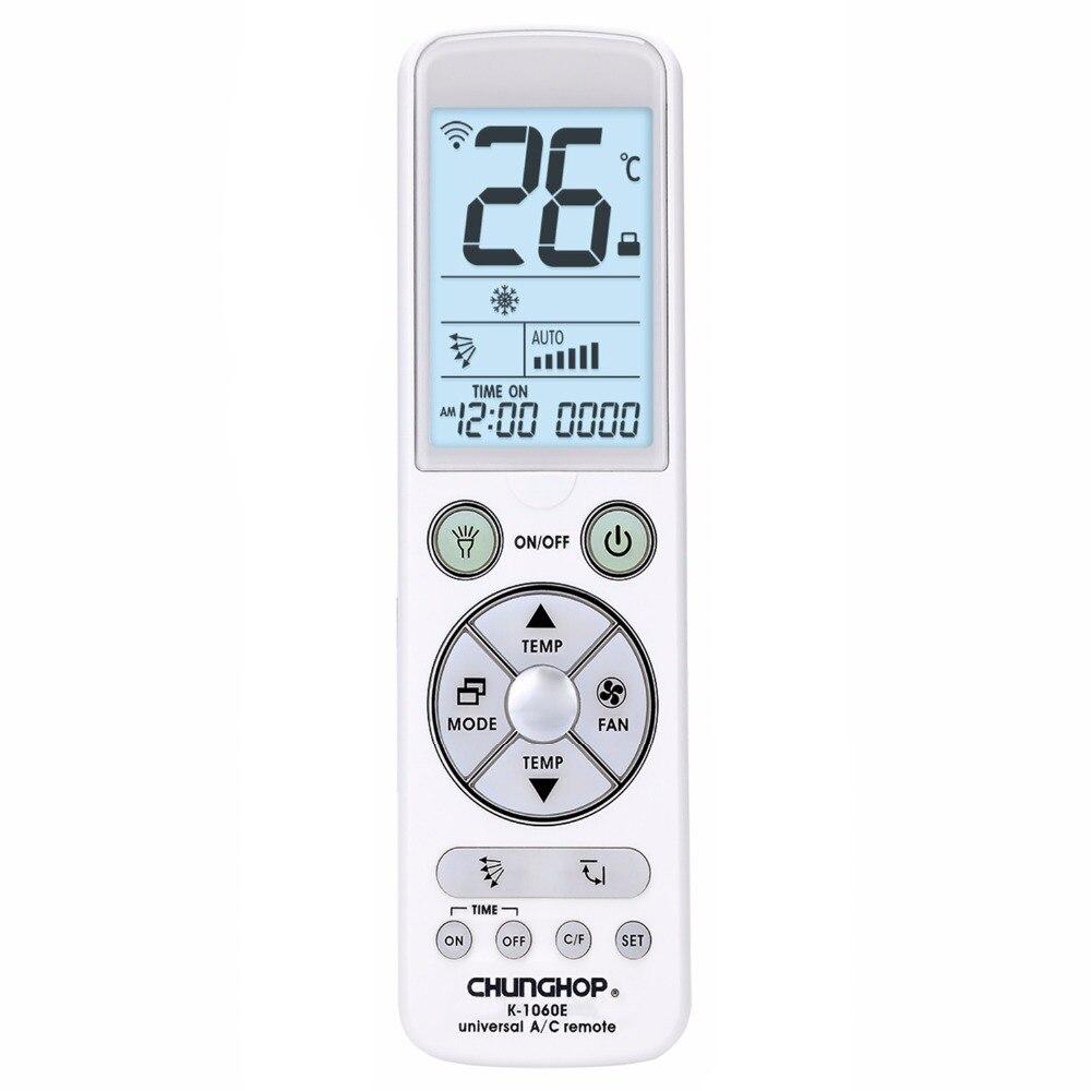 CHUNGHOP avec rétro-éclairage grand moniteur Universel contrôleur Climatiseur air conditionné télécommande K-1060e