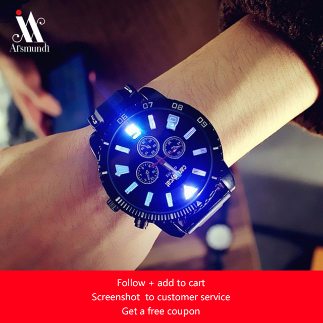 New men's watch fashion watch simple business student men's quartz watch Roman men's men's clock relojes luminous large dial