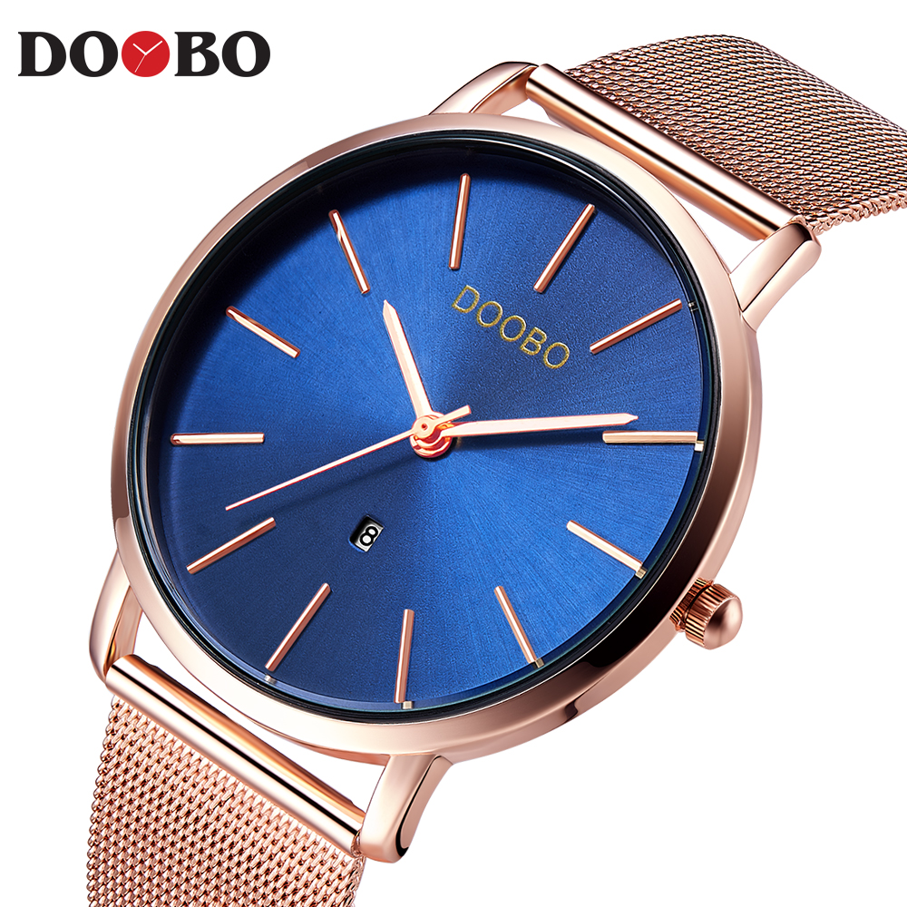 Luxury Brand DOOBO Men Watch Ultra Thin Stainless Steel Clock Male Quartz Sport Watch Men Casual Wristwatch relogio masculino