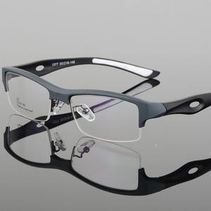 Image 5 - الرياضة إطار مشهد جذاب رجالي تصميم مميز مريح TR90 نصف إطار مربع نظارات رياضية إطار eyeglass s1077