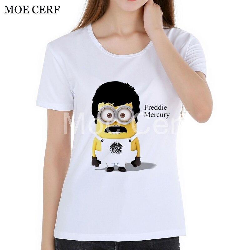 MOE CERF Mode Königin Marke Freddie Mercury Monion Desinger T-shirt Frauen Sommer Harajuku Kurzarm kawaii Punk Tops L1-N