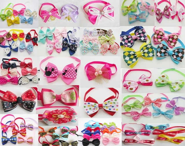 500pc lot EMS free shipping 2019 Hot Sale butterfly pet cat puppy dog bow tie Grooming