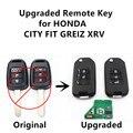 Actualizado remoto clave 433 mhz ajuste para honda fit city xrv greiz fobik con id47 chip electrónico de alarma de coche