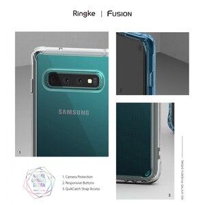 Image 2 - Fusion Ringke pour Galaxy S10 étui en Silicone souple en polyuréthane et coque arrière rigide transparente hybride