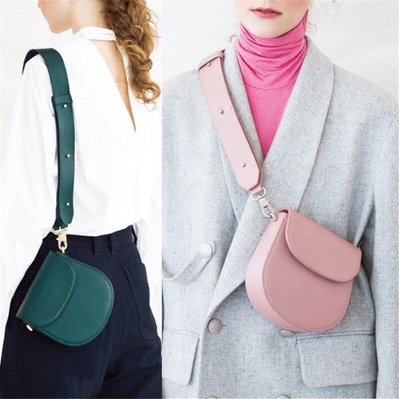 2019 Newest Famous Design Mini Wide Straps Shoulder Messenger Bags Fashion Waist Pack Women Clutch Purse Handbags