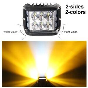 Image 5 - CO LIGHT 4 inch 7D LED Work Light 12V 72W Strobe Side Shooter Flashing Auto Driving Fog Light Bar for Lada Trucks ATV Boat SUV