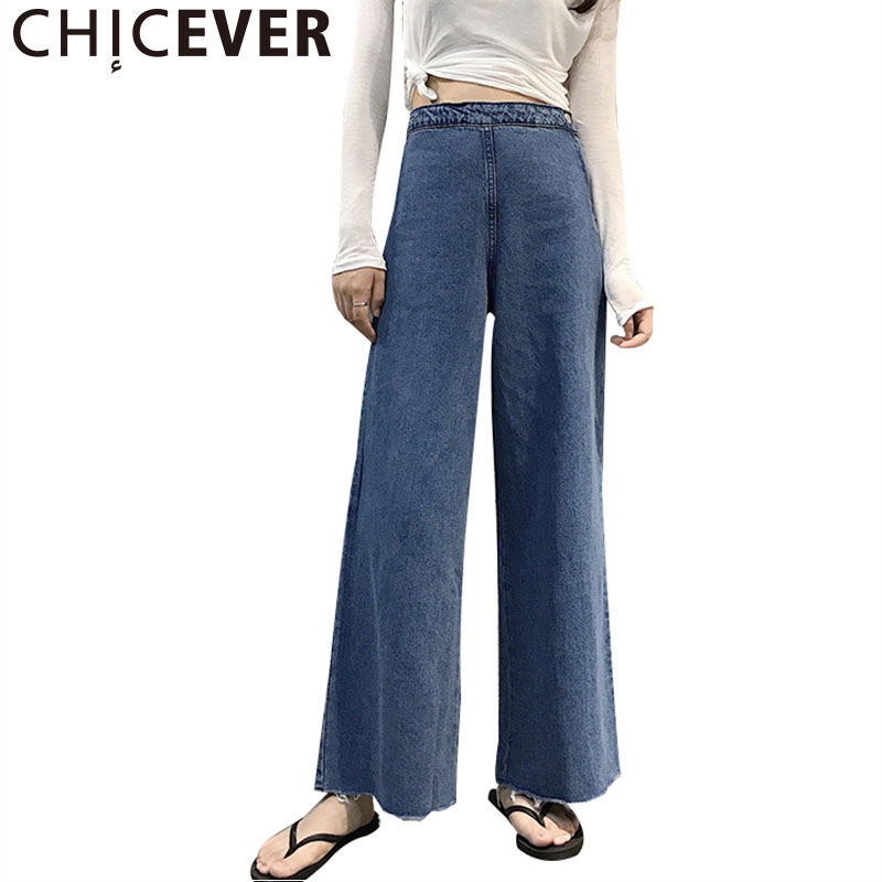 CHICEVER 2017 Vintage Denim Trousers For Women Pant Jeans High Waist Tassel Summer Ankle Length Female Pants Fashion New new summer vintage women ripped hole jeans high waist floral embroidery loose fashion ankle length women denim jeans harem pants