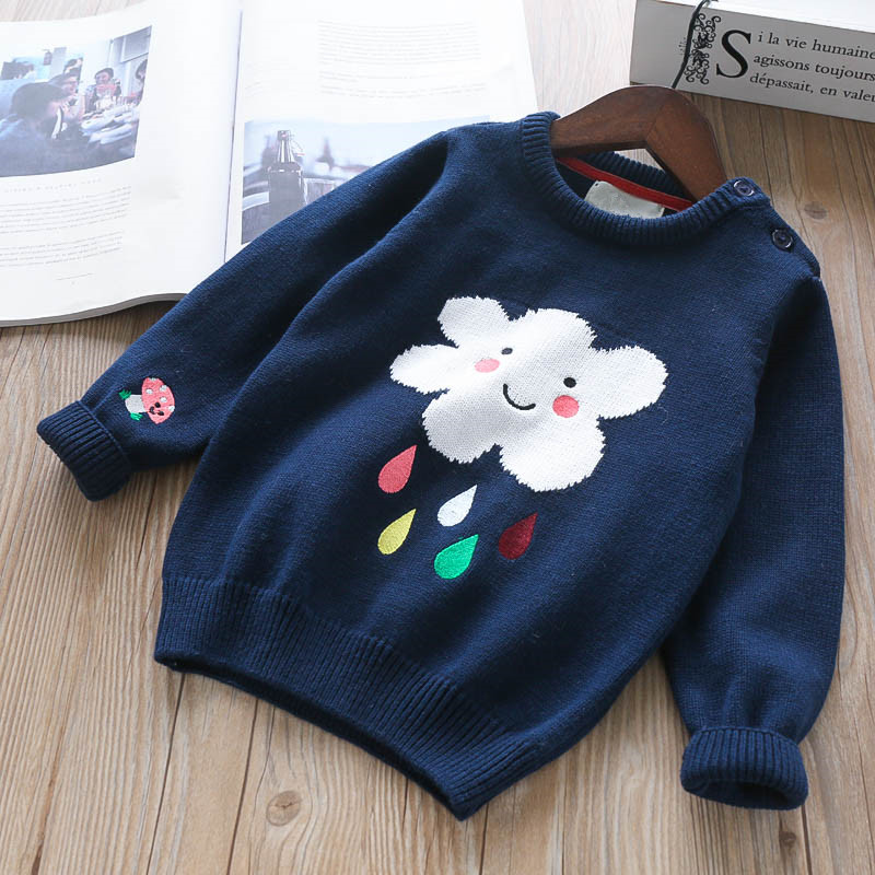 Autumn Baby Sweater For Girls Cardigan For Girls Sweater Fashion Rainbow Children's Clothing Kids Clothes For Girls