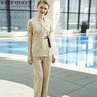 Scrubs medical uniforms office uniform designs women salon gown salon accessories DD001