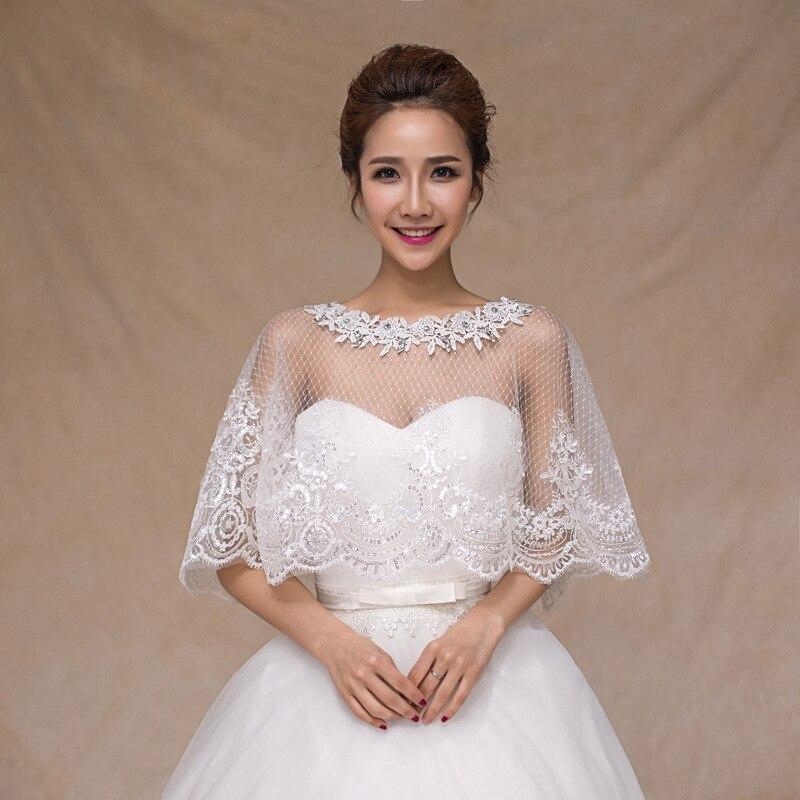 Popular lace beaded bolero buy cheap lace beaded bolero for Lace shrugs for wedding dresses