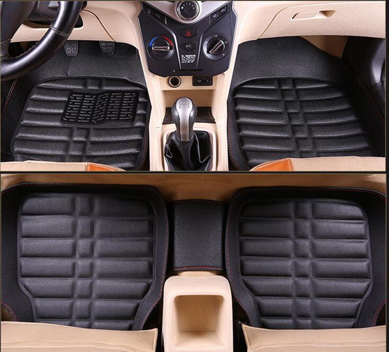 Car Floor Mats Universal for Fiat Freemont 500 500x Viaggio Bravo Ottimo Palio Weekend Car Leather floor mats carpet liner