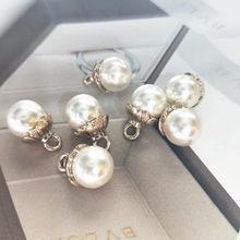 Patchs en strass et perles pour vêtements, 10 pièces, 10mm, pour couture