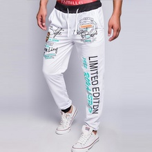 ZOGAA Hot Sale Spring Autumn Men's Sports Pants Rib Top Contrast Collar Letter Printing Casual Cotton Fashion 4 Color Sweatpants недорого