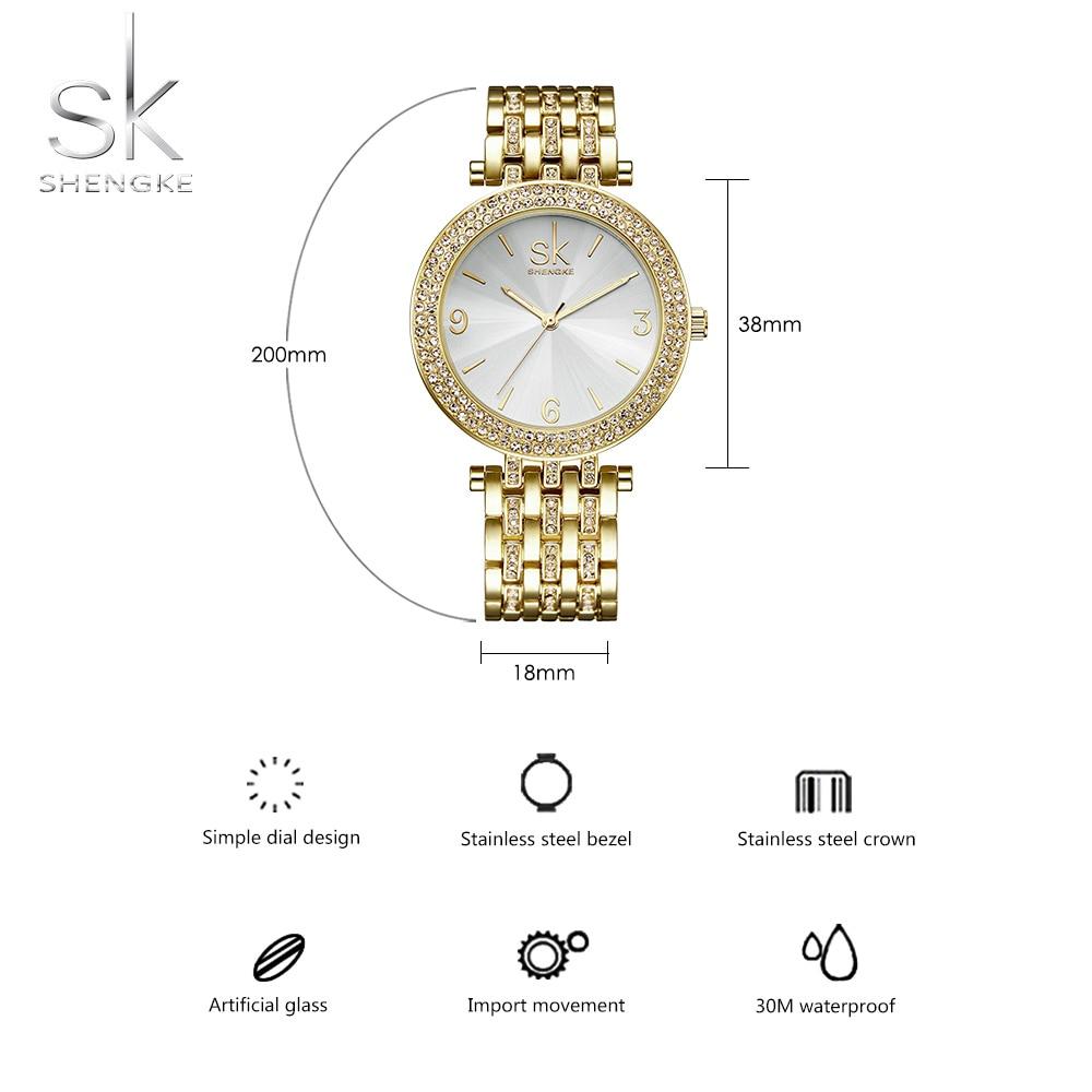 SK Silver Watch Women 2018 Horloges Luxe Waterproof Horloges Dames - Dameshorloges - Foto 4