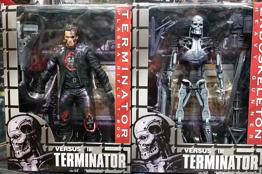 2pcs/set NECA the Terminator Plasma Rifle T.800 vs ENDOSKELETON Hravy Gunner PVC Action figure Collectible Models Toys 7 18cm the wangs vs the world