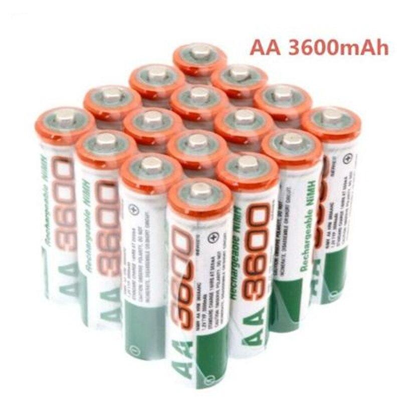 2020 Dolidada 100% новая AA батарея 3600 mAh аккумуляторная батарея, 1,2 V Ni MH AA батарея, подходит для часов, мышей, компьютеров|Перезаряжаемые батареи|   | АлиЭкспресс