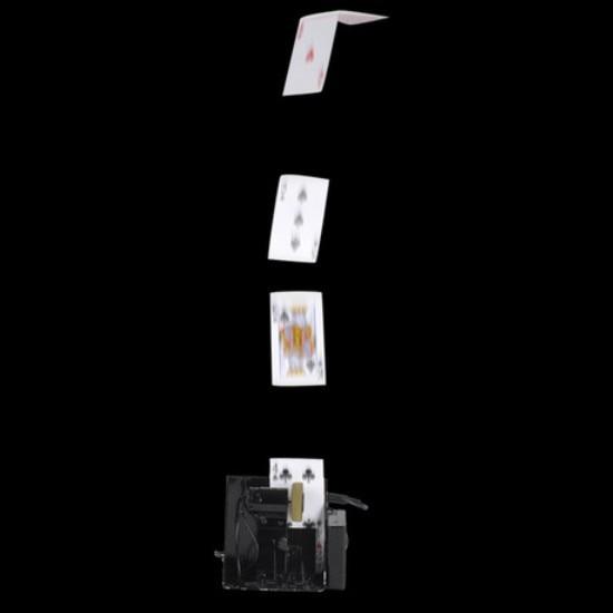 Máquina de tarjetas spary remoto/Fuente de tarjetas Pro, magia de escenario de Metal/accesorios mágicos/como se ve en la televisión de alta calidad